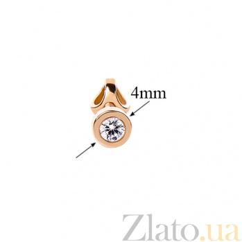 Золотые серьги с цирконием Полетт TRF--212156
