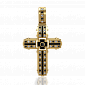 Мужской крест Сaritas с бриллиантами и эмалью PRT--KC015