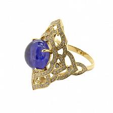 Золотое кольцо с бриллиантами и танзанитом Devi