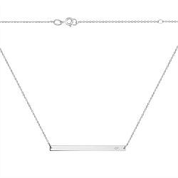 Серебряное колье Городской минимализм с белым фианитом