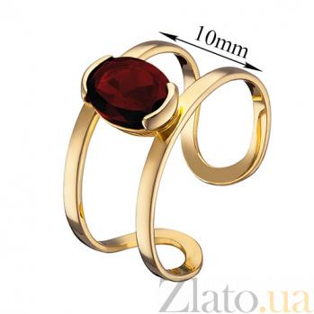 Кольцо из желтого золота Альбина с гранатом 000023594