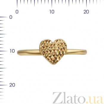 Кольцо из красного золота Переливы сердца 000081338