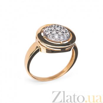 Кольцо в красном золоте Колесо фортуны с бриллиантами 000079266
