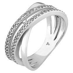 Серебряное кольцо с цирконием 000051858