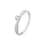 Золотое кольцо Нежность любви с бриллиантом