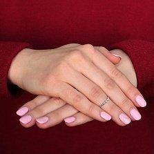 Золотое кольцо в белом цвете с открытой шинкой Аврора