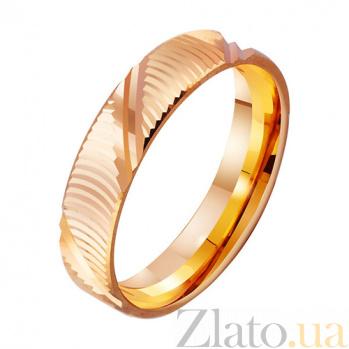 Золотое обручальное кольцо с алмазной гранью Поэзия любви TRF--4111241