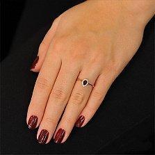 Золотое кольцо Капля росы с раухтопазом и фианитами