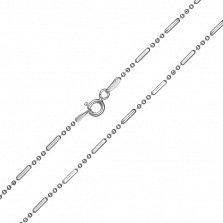 Серебряная цепь Жанин с родием, 5 мм
