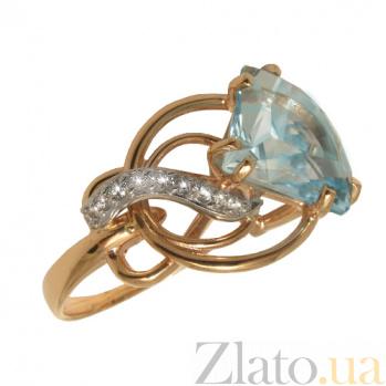 Золотое кольцо с топазом и фианитами Кармелла PTL--1к486/27