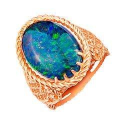 Кольцо из красного золота с опалом 000130003