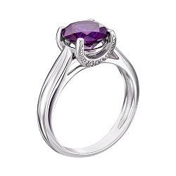Серебряное кольцо Адриана с аметистом