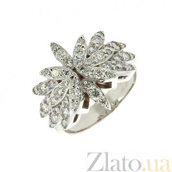 Золотое кольцо в белом цвете с бриллиантами Дилия ZMX--RD-6216-2w_K
