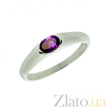 Кольцо в белом золоте с аметистом Зафира ZMX--RAm-15790w_K
