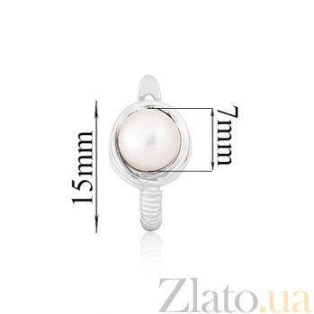 Серебряные серьги с жемчугом Эрлин SLX--СК2Ж/260