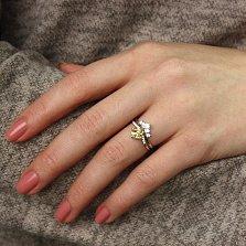 Серебряное кольцо Аланта с желтым и белым цирконием
