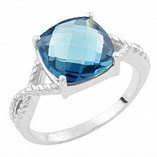 Серебряное кольцо Лусия с топазом лондон