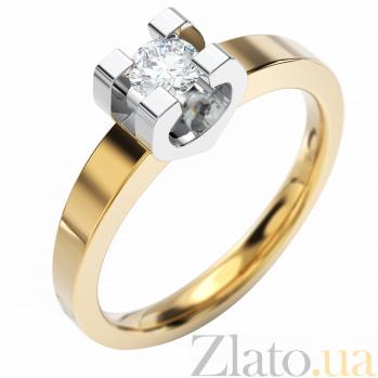 Золотое кольцо с бриллиантом Brooke VLA--12690