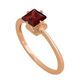Кольцо из красного золота с гранатом Принцесса