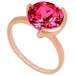 Золотое кольцо Клэр с корундом