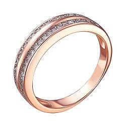 Серебряное кольцо с позолотой и цирконием 000039612