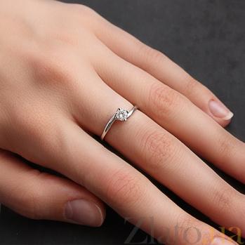 Кольцо из белого золота Мy Lady с бриллиантом 000026486