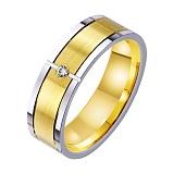 Золотое обручальное кольцо Блаженство с фианитом