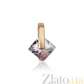 Золотой кулон с фианитом Вечное сияние EDM--П044