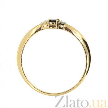 Золотое кольцо с сапфиром и бриллиантами Марселина ZMX--RS-6735_K