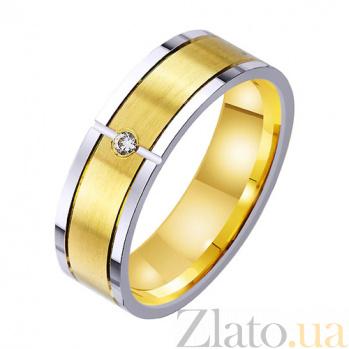 Золотое обручальное кольцо Блаженство с фианитом TRF--4521742