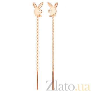 Золотые серьги Bunny SUF--100373