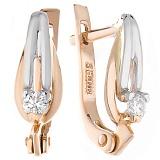 Золотые серьги Кассиопа с бриллиантами
