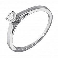 Кольцо из белого золота Изыск с бриллиантом