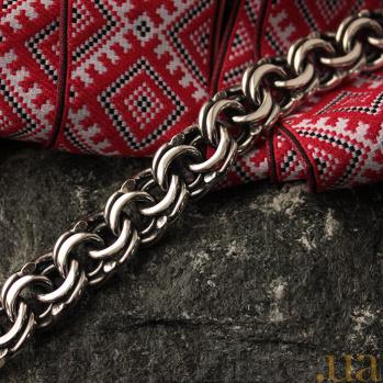 Браслет из серебра Классический Бисмарк 7мм 000013348