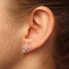 Серебряные пуссеты Бесконечное движение с кристаллами циркония
