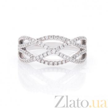 Кольцо из белого золота Василиса с бриллиантами 000096480
