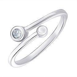 Серебряное кольцо с фианитом 000143876