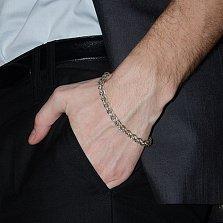 Серебряный браслет Джексон в плетении колосок