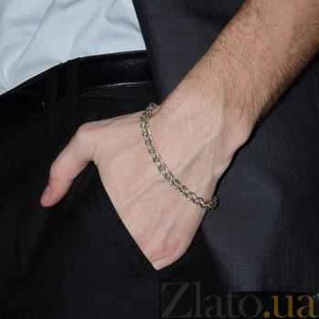 Серебряный браслет Джексон в плетении колосок 10020012
