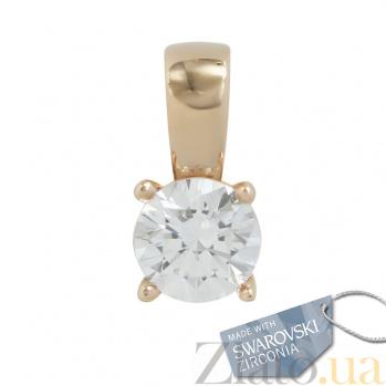 Золотой подвес с кристаллом Swarovski Салли 2П171-0122
