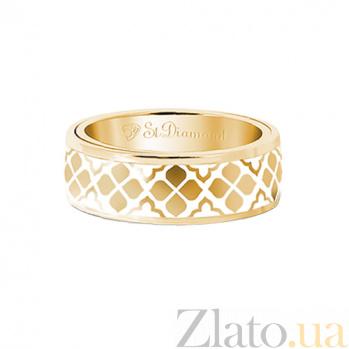 Золотое кольцо с эмалью Согласие: Звезда любви 000029634