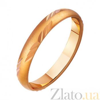 Золотое обручальное кольцо Легкость бытия TRF--411159