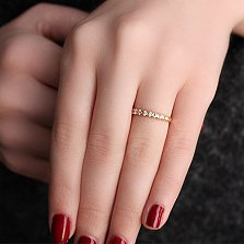 Кольцо из красного золота Кэролин с бриллиантами