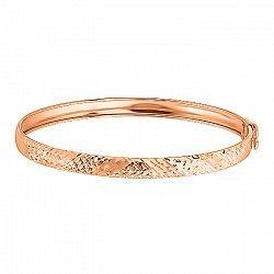Жесткий золотой браслет с алмазной гранью 000044622