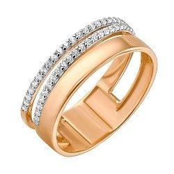 Золотое кольцо с фианитами 000049332