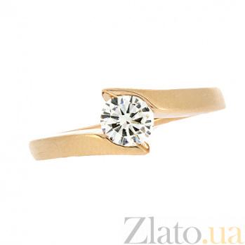 Золотое кольцо в красном цвете с бриллиантом Джахан 000021500