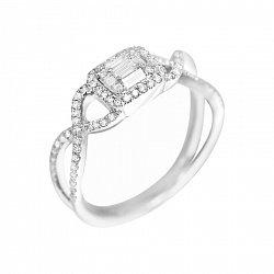 Кольцо из белого золота Катрина с бриллиантами