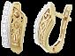 Позолоченные серьги из серебра с цирконием Мэйбель SLX--С3Ф/097