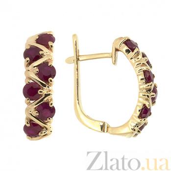 Золотые серьги Иоланта с рубинами ZMX--ER-16531_K