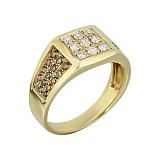 Золотой перстень-печатка с бриллиантами Джеральд